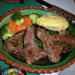 This was the best entree in our group - lamb chops