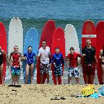 puntas surf school group lesson