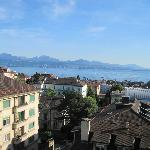 View from our balcony of Lake Geneva