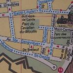  Partial map showing Ave Ste. Genevieve in Old Quebec City