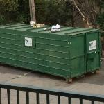  dumpster right outside our room