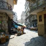 The back streets of the old town in Napoli.