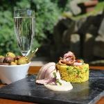 Smoked Duck Breast, with Orange Bulgur Wheat Salad, Rhubarb Dressing (July 2012)