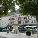 View of the hotel from the street