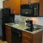 One Queen Bed Studio Suite Kitchen