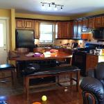 looking into the kitchen from living room