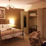 garden suite bedroom showing luggage a
