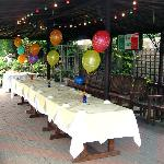 PARTY TIME IN THE GARDEN