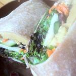 Vegetarian Wrap w/ Red Lentil Hummus