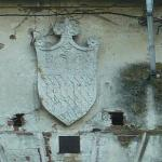 Castle of Nogarole Rocca, original family Crest, above the entrance.