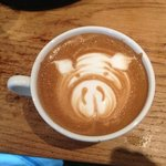 latte art at the TP