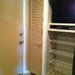Closet and exterior door