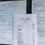 Menu with everything a girl needs!
