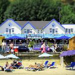 The Steamer Inn on Shanklin Esplanade, Isle of Wight is right on the beach and the ideal place f