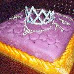 tiara on a cushion cake