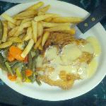  Chicken Fried Steak with Gravy &amp; Sauted onions