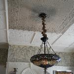  Original ceilings feature hand crafted , raised plaster designs still in pristine condition.