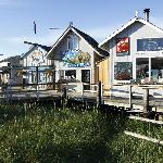 Outside of Finn's Pizza, Homer, Alaska