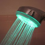 Shower head changes color