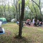 Campsite with our stuff
