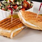  Grilled Double Cream Brie Sandwich with Caprese Salad