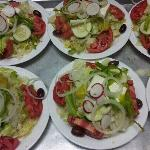  fresh Greek salads