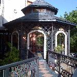 Gazebo by entrance
