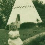  Me in front of tee-pee, we loved stopping here!!