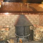 Fireplace in bar/ restaurant room