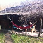  Our dorm. Too cold for hammock!