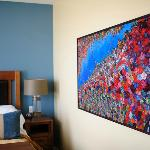 The suites feature original artwork by local artists.