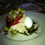 oil-poached tuna, egg, fava beans