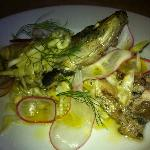 grilled sardine escabeche