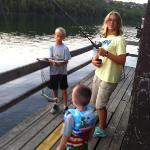 fishing on Lakeshore's dock
