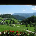 The vue from our room to Lake Wolfgangsee