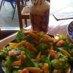 Salade Bretone with Mangoes, Shrimps & Crabs lots of Greens,