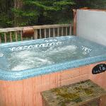 Forest room hot tub
