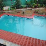  View of Swimming pool from my room!!