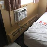  AC unit 12 inches from bed
