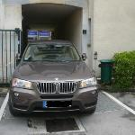 Narrow parking entrance. Do becareful