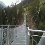 wandeling over de hangbrug in Ischgl