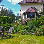 A relaxing spot in the garden of Highwoods Farm B&B