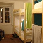 4 person bunk on first floor of hostel