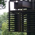 Detail of Deere HQ; Cor-Ten steel exterior designed to rust with age