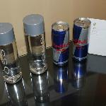 Gotta love Red Bull! A nice surprise when we arrived.