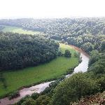 View from Symond's Yat Rock. A short, uphill climb from Garth Cottage, or you can get there by c