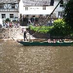  The rope ferry near the B&amp;B. 1 per person to cross