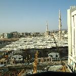 view from room to nabawi mosque
