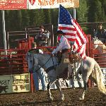 Opening rider during the national anthem