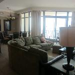  The living and dining area of our beautiful condo!